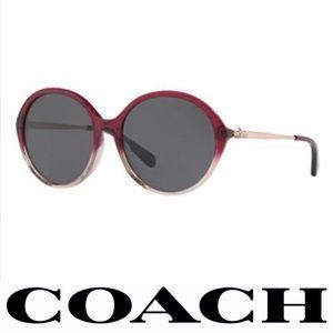 Coach Sunglasses Round Hc8214 547387 Red Sand